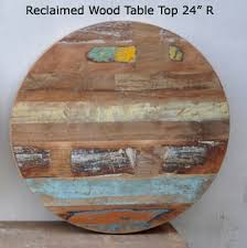 reclaimed wood round table top 24