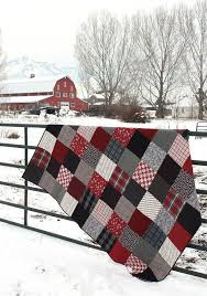 Best 25+ Quilts ideas on Pinterest | Quilting, Quilting tools and ... & Black and Red plaid flannel quilt Adamdwight.com