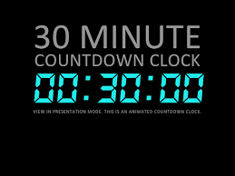 5 Minute Countdown Timer For Powerpoint 30 Minute Digital Countdown Clock Presentation By Deckologie