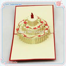 150150mm Happy Birthday Cake Flower Greeting Cardsenvelopepp
