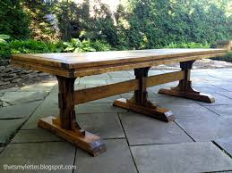 Farm Table Plans Thats My Letter Diy Triple Pedestal Dining Table