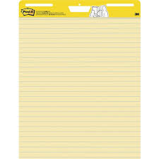 3m Post It Flip Chart Post It 561 Self Stick Easel Pads Faint Rule 30 Sht 25 X 30 2 Ct Yellow Flip Chart Pad