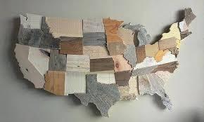 11 usa map wall art usa map wall art map reclaimed wood wall art state art