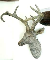 silver deer head wall decor stag head decor stag wall art stag head wall decoration large