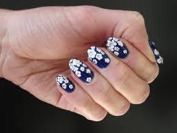 Russian Gzhel Nail Art (Blue/White Flowers Manicure) - YouTube