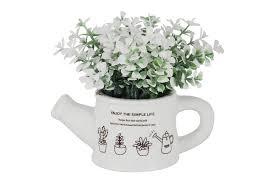 <b>Декоративные цветы Букетик</b> белый в лейке без инд.упаковки ...