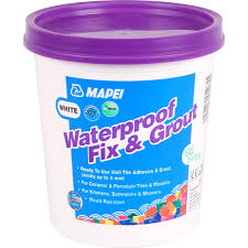 mapei waterproof fix grout tile adhesive