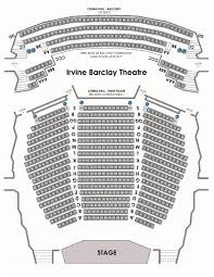 Irvine Barclay Seating Chart Irvine Barclay Theatre Claire Trevor School Of The Arts