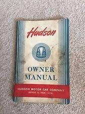 hudson 1949 in manuals literature 1949 hudson original om 49 hudson owner manual lube chart wiring diagram