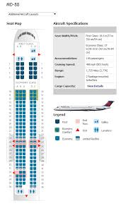 Delta Airlines Aircraft Seating Chart Douglas Md 85 Seating Chart Delta Best Picture Of Chart