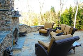 stacked stone outdoor fireplace designs kits uk