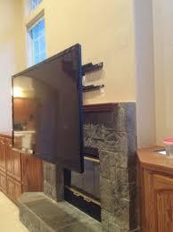 beautiful mounting a tv above a fireplace without studs mounting tv above stone fireplace home design