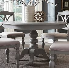 summer house dove grey round extendable dining table main image
