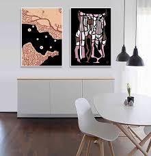 black wall art tribal art print