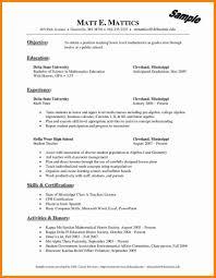Resume Templates For Teachers Lcysne Com