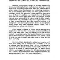 Elementary Essay Examples National Elementary Honor Society Essay Examples Mistyhamel