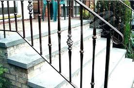 outdoor metal stair railing. Outdoor Stair Railings Railing Exterior Iron Handrail Wrought . Metal D