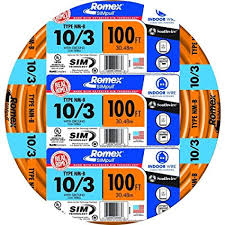 Southwire 63948426 100 10 3 With Ground Romex Brand Simpull Residential Indoor Electrical Wire Type Nm B Orange