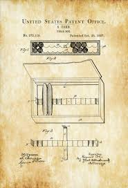 Cigar box purses can be functional or decorative, and you can make one in a few hours,, making it a fun project for adults and children alike. Cigar Box Patent 1887 Tobacco Patent Cigar Lounge Sign Cuban Cigar Cigar Art Cigar Decor Man Cave Cigar Box Cigar Patent Mypatentprints Com