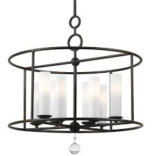 crystorama cameron 8 light wrought iron chandelier i