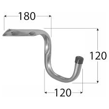 <b>Крюк для велосипеда</b> DMX 120х180х120 мм оцинкованный ...