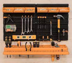 wall mounted tool rack organiser with