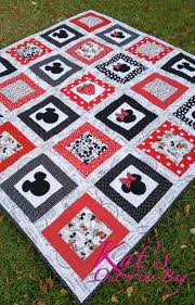 Best 25+ Mickey mouse quilt ideas on Pinterest   Mickey mouse ... & Minnie Mouse Quilt and Mickey Mouse Quilt Disney Themed Toddler Bed Quilt  or Small Throw Quilt Adamdwight.com