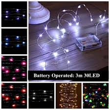 popular thin wire christmas lights buy cheap thin wire christmas 20pcs led string light 3m 30leds waterproof ultra thin silver copper fairy starry led wire