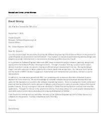 Sample Cover Letter For Engineering Internship Sample Cover Letter