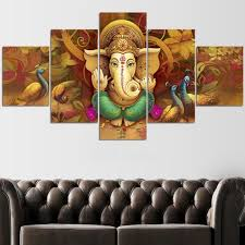 ganesha large wall art hindu meditation