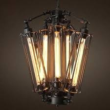 chandelier with edison bulbs
