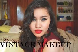 modern vine retro makeup tutorial makeup