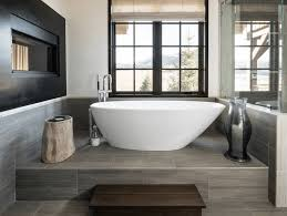 collect this idea modern tub on a tiled platform