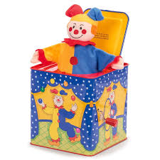 jack in the box toy. jester jack in the box toy