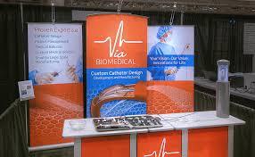 myriad banner stand built in merchandising