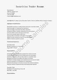 Sample Traders Resume Great Sample Resume Resume Samples Securities Trader
