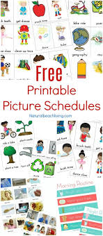 Free Printable Pocket Chart Cards Free Printable Picture Schedule Cards Visual Schedule