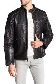 campaign blackmoto styled distressed leather jacket