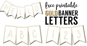 Printable Letter Templates Free Printable Banner Letters Templates Paper Trail Design