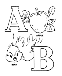 Small Picture ABC Pre K Coloring Activity Sheet Alphabet A B toddler