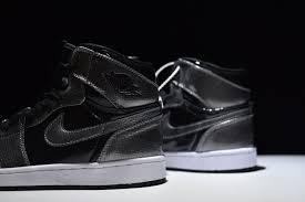 hot ing nike air jordan 1 retro high patent leather black 332550 017 man basketball shoes