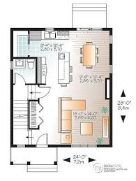 House plan W detail from DrummondHousePlans com    st level Small bedroom Traditional house plan   open living concept  large kitchen island