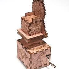 Engraved Wooden Music Box Game Of Thrones Game of Thrones Music Box Iron Throne Main Theme Laser cut 41
