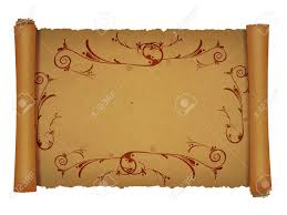 Scroll Border Designs Old Scroll Papyrus Background For Your Messages And Designs With