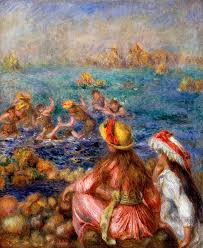 impressionism painting the bathers by pierre auguste renoir