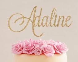 Name Cake Topper Etsy