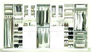 easy track closet kit white wood