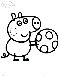 Peppa Pig Printable Coloring Pages Colouring Pages For Pig Big