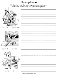 Homonyms Vs Homophones Worksheets Worksheets for all | Download ...