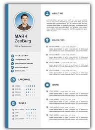 Free Resume Template For Word Stunning Free Resume Templates Doc Resume Doc Template Visual Resume Resume